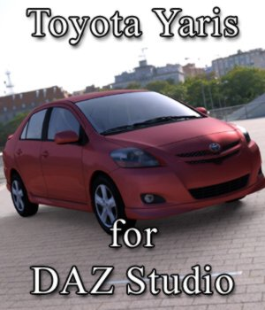 Toyota Yaris for DAZ Studio 3D Models Digimation_ModelBank