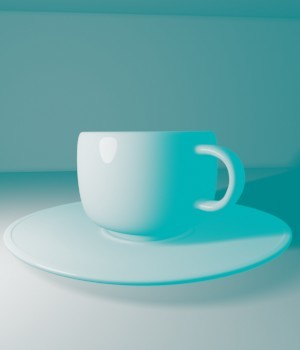 Cup and Plate - Extended License 3D Game Models : OBJ : FBX 3D Models Extended Licenses Tagobott