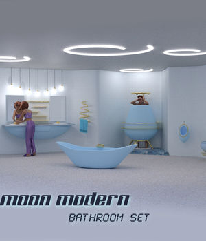 Moon Modern Bathroom 3D Models dhouck
