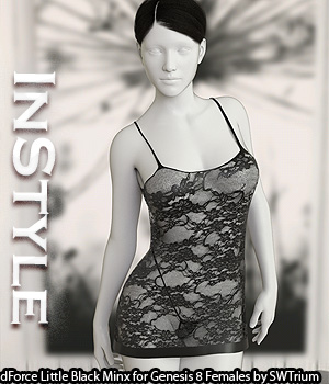 InStyle - dForce Little Black Minx for Genesis 8 Females 3D Figure Assets -Valkyrie-
