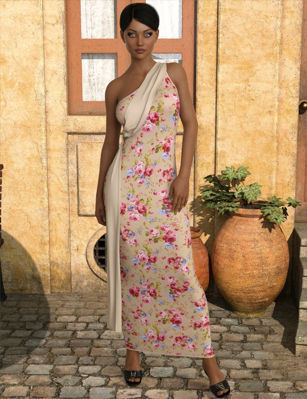 InStyle - JMR dForce Floral Waterfall Dress for G8F