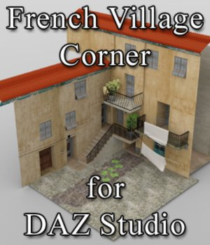 French Village Corner for DAZ Studio 3D Models VanishingPoint