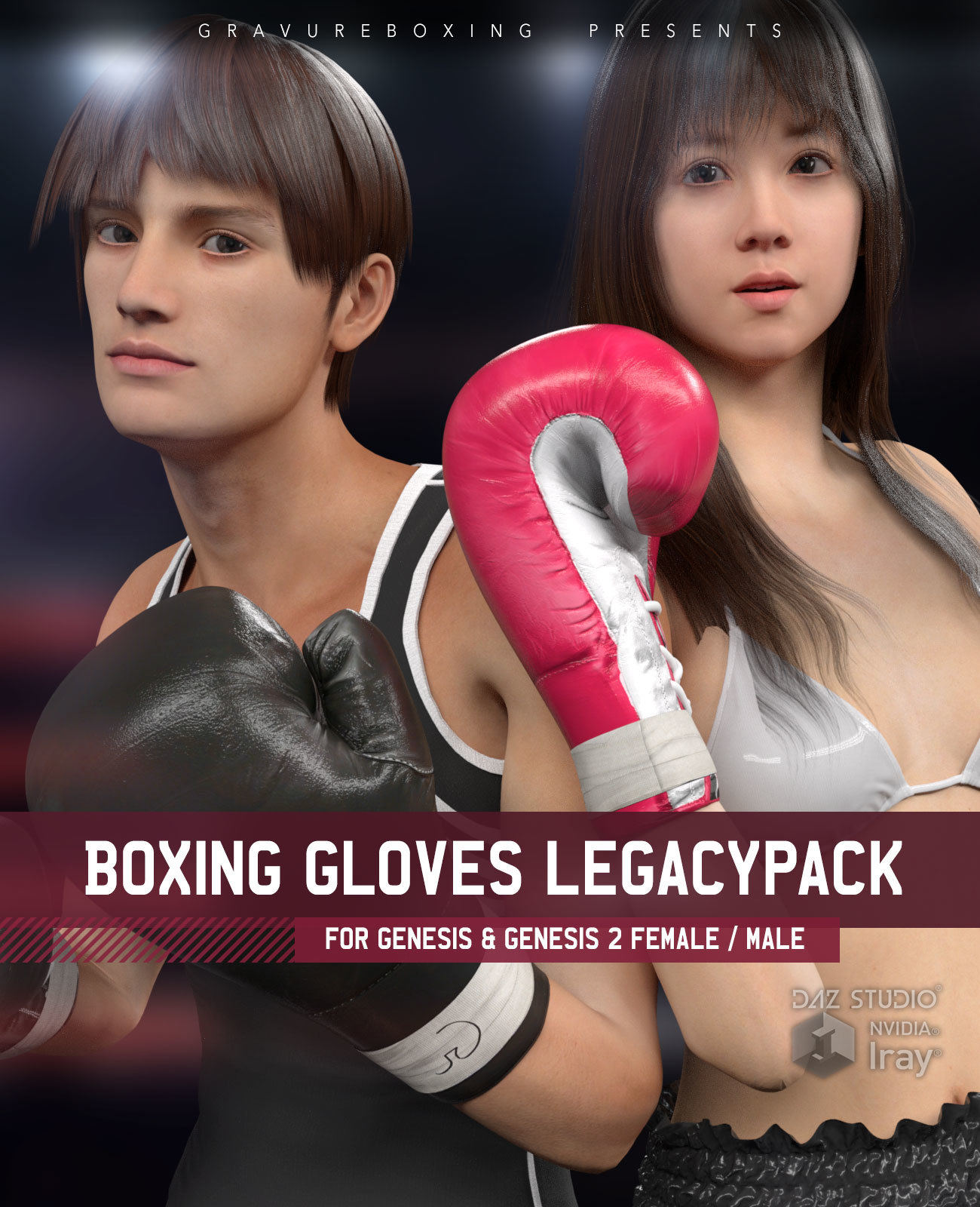 Boxing Gloves LegacyPack for Genesis 1 and Genesis 2 Female and Male
