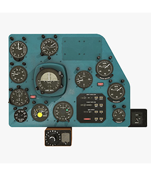 Mi-8MT Mi-17MT Right Panels Board Russian - Extended License 3D Game Models : OBJ : FBX 3D Models Extended Licenses pukamakara