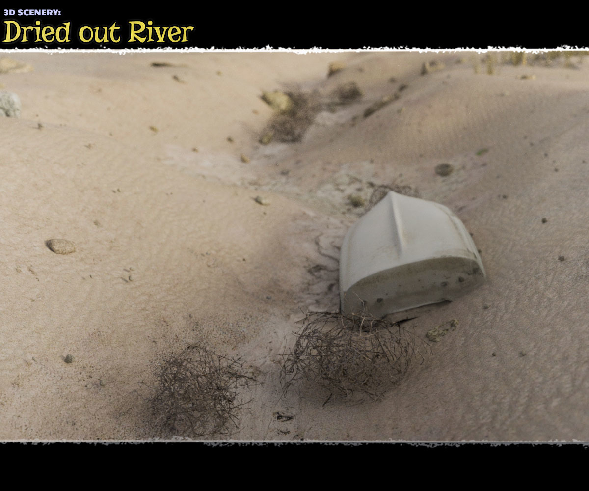 3D Scenery: Dried Out River for Poser by ShaaraMuse3D