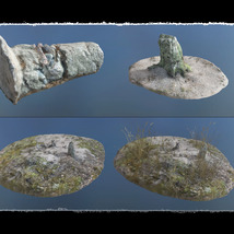3D Scenery: Dried Out River for Poser image 6
