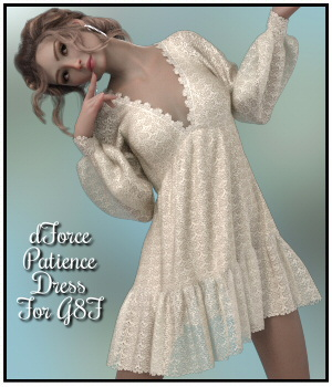 dForce - Patience Dress for G8F 3D Figure Assets Lully