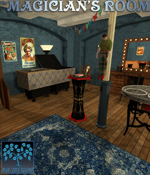 The Magician's Room for Poser 3D Models BlueTreeStudio