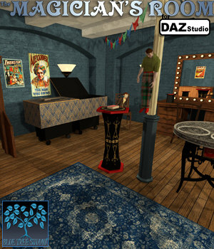 The Magician's Room for DAZ Studio 3D Models BlueTreeStudio