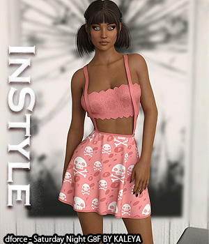 InStyle - dforce - Saturday Night G8F 3D Figure Assets -Valkyrie-