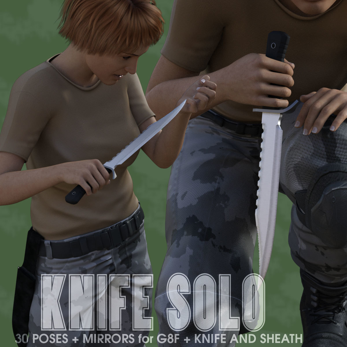 KNIFE SOLO for Genesis 8 Female