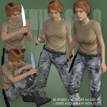 KNIFE SOLO for Genesis 8 Female image 1