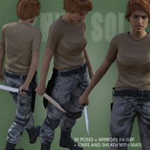 KNIFE SOLO for Genesis 8 Female image 2