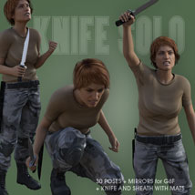 KNIFE SOLO for Genesis 8 Female image 3