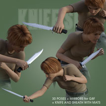 KNIFE SOLO for Genesis 8 Female image 4