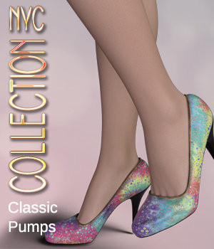 NYC Collection: Classic Pumps Genesis 8 Female 3D Figure Assets 3DSublimeProductions