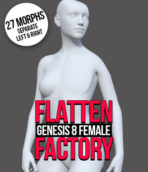 Flatten Factory for G8F 3D Figure Assets powerage
