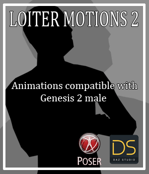 Loiter Motions 2 for G2M 3D Figure Assets AnyMatter