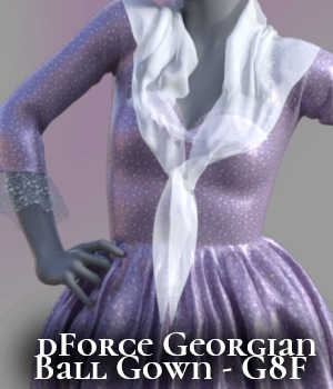 a93 - dForce Georgian Ball Gown 3D Figure Assets anjeli93