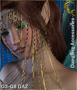 Dangling D-Force Accessories for G3-G8 DAZ Studio 3D Figure Assets Cyriona