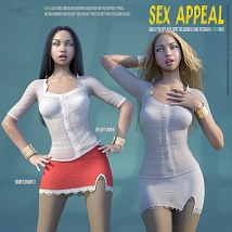 Sex Appeal - Blouse and Skirt for G8 and V8 - Extended License image 10