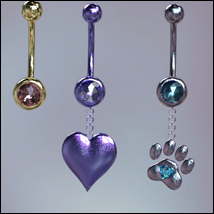 Twizted Belly Rings for Genesis 8 Females image 7