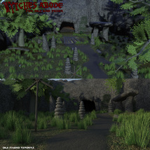 Wytches Abode for Daz and Poser image 1