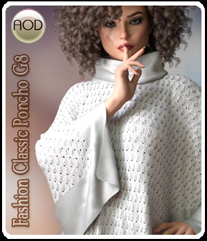 Fashion Classic Poncho G8 3D Figure Assets ArtOfDreams