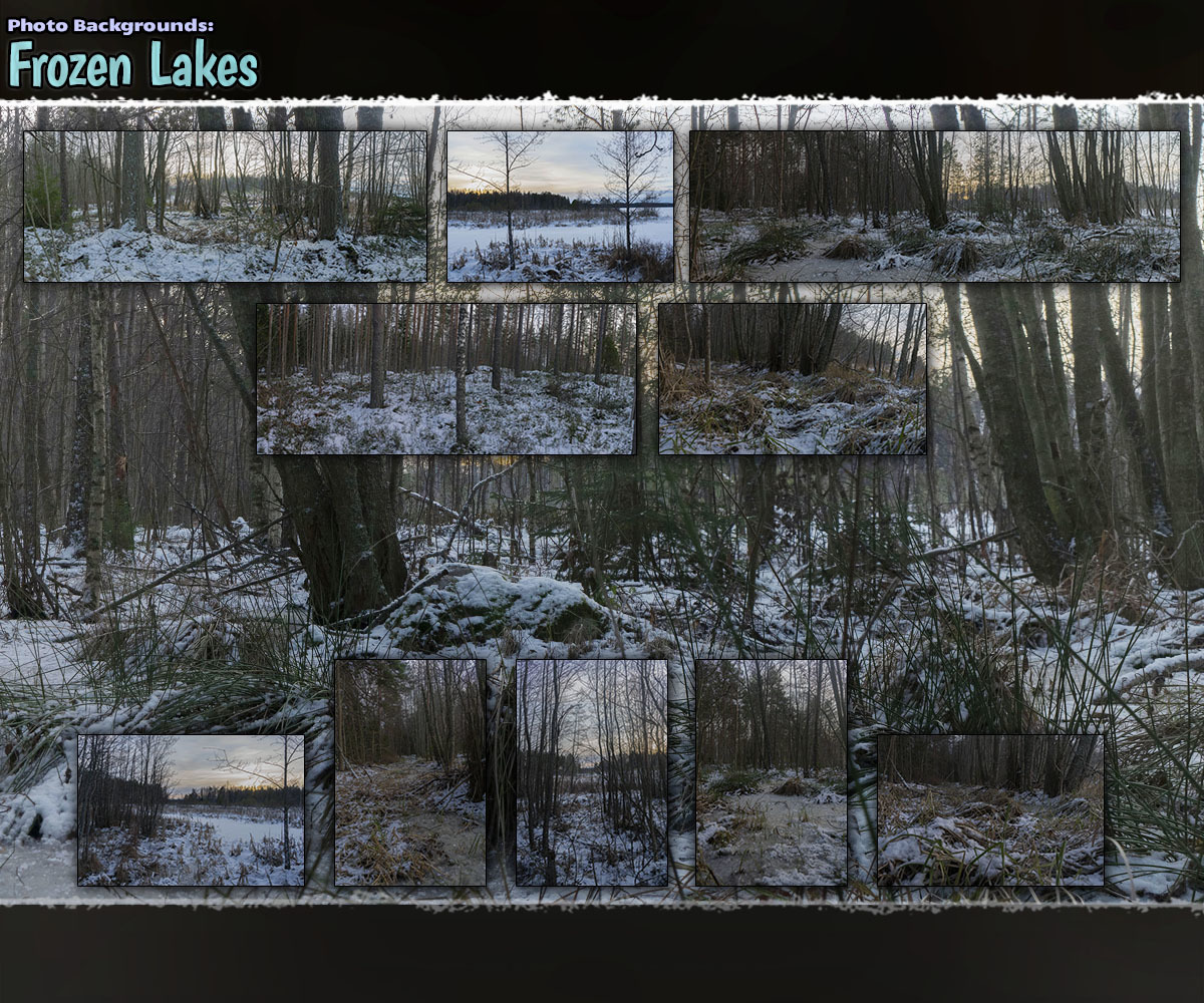 Photo Backgrounds: Frozen Lakes by ShaaraMuse3D