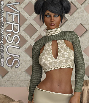 VERSUS - dforce Sporty Chic The Shrug G3G8 3D Figure Assets Anagord