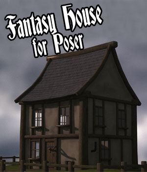 Fantasy House for Poser 3D Models genejoke