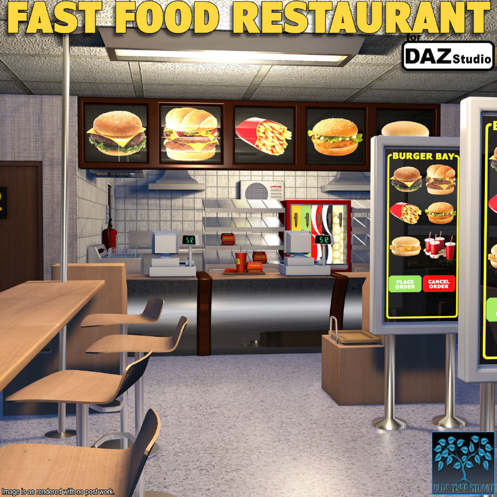 Fast Food Restaurant for Daz Studio