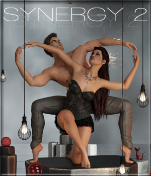 Synergy 2 - Poses for G3F-G8F 3D Figure Assets ilona