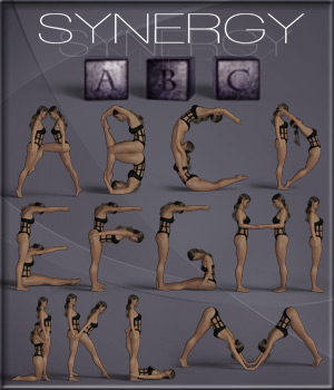 Synergy ABC - Poses for G3F-G8F 3D Figure Assets ilona