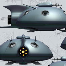 Pulp SciFi Flying Saucer image 2