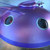Pulp SciFi Flying Saucer image 9