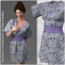 Eve Dress and 14 Styles for V4, PE, Dawn and Pauline image 4