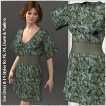 Eve Dress and 14 Styles for V4, PE, Dawn and Pauline image 6