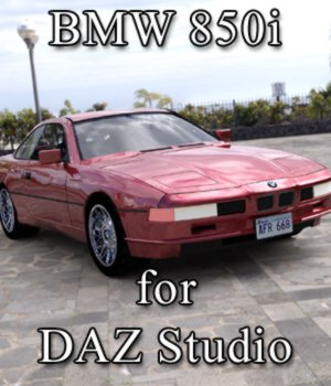 BMW 850 I for DAZ Studio 3D Models Digimation_ModelBank