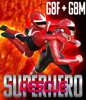 SuperHero Rescue for G8F and G8M Volume 1 3D Figure Assets GriffinFX