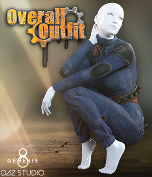 Overall Outfit G8F 3D Figure Assets Man7a