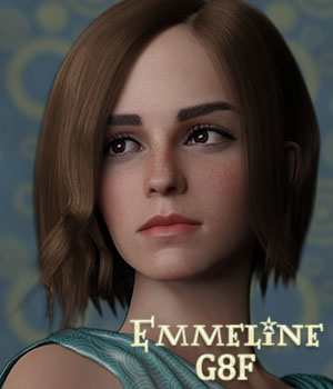 Emmeline Young for Genesis 8 Female 3D Figure Assets Sangriart