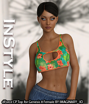 InStyle - dForce CP Top for Genesis 8 Female 3D Figure Assets -Valkyrie-