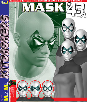 Mask 043A MMKBG3 3D Figure Assets MightyMite