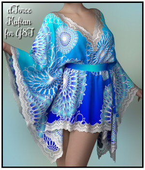 dForce - Short Kaftan for G8F 3D Figure Assets Lully