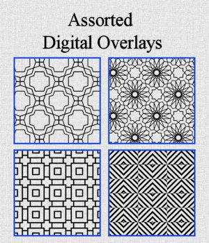 Assorted Digital Overlays 2D Graphics Khory_D