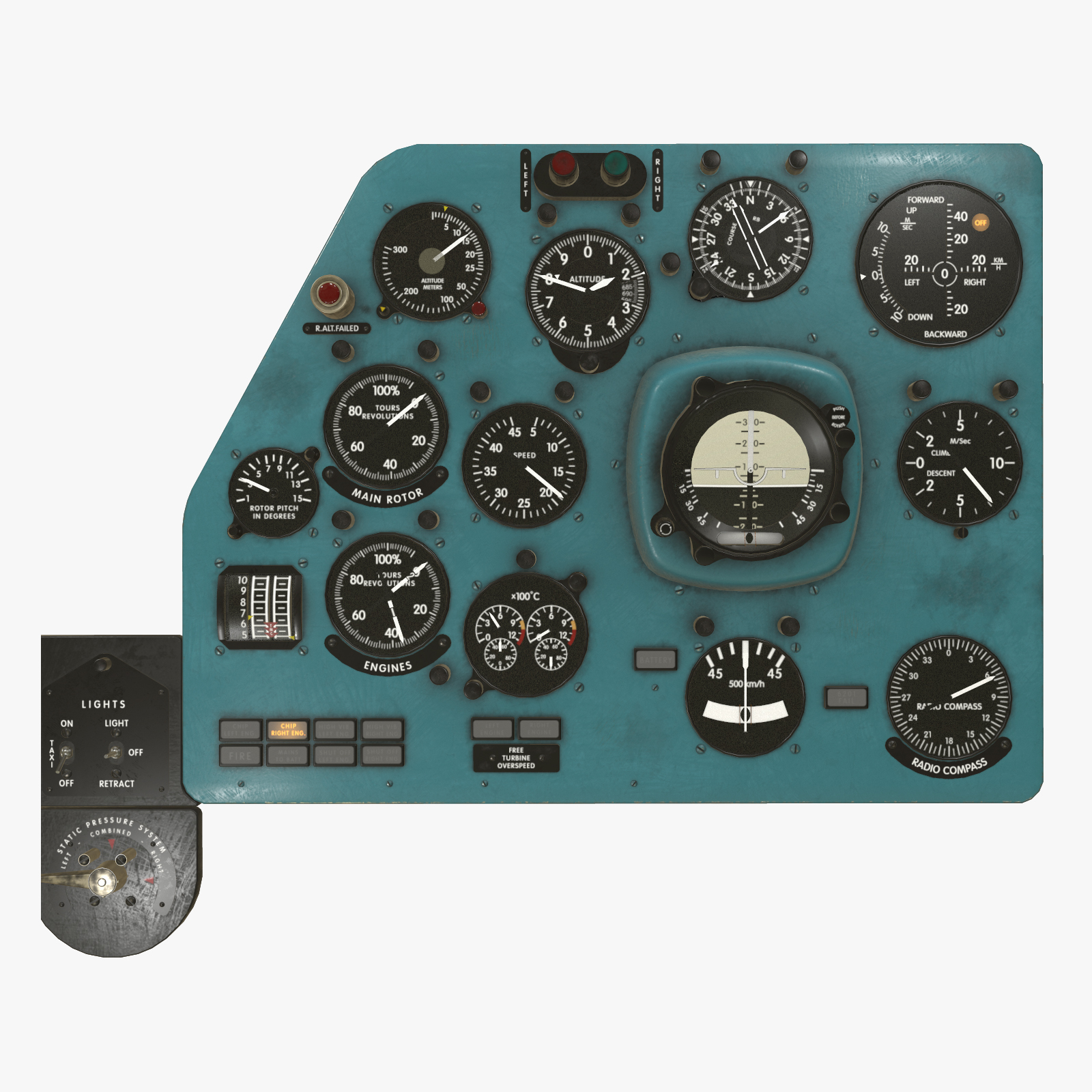 Mi-8MT Mi-17MT Left Panels Board English - Extended License by pukamakara