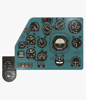 Mi-8MT Mi-17MT Left Panels Board English - Extended License 3D Game Models : OBJ : FBX 3D Models Extended Licenses pukamakara