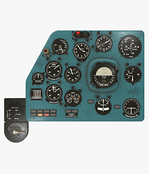 Mi-8MT Mi-17MT Left Panels Board Russian -Extended License 3D Game Models : OBJ : FBX 3D Models Extended Licenses pukamakara