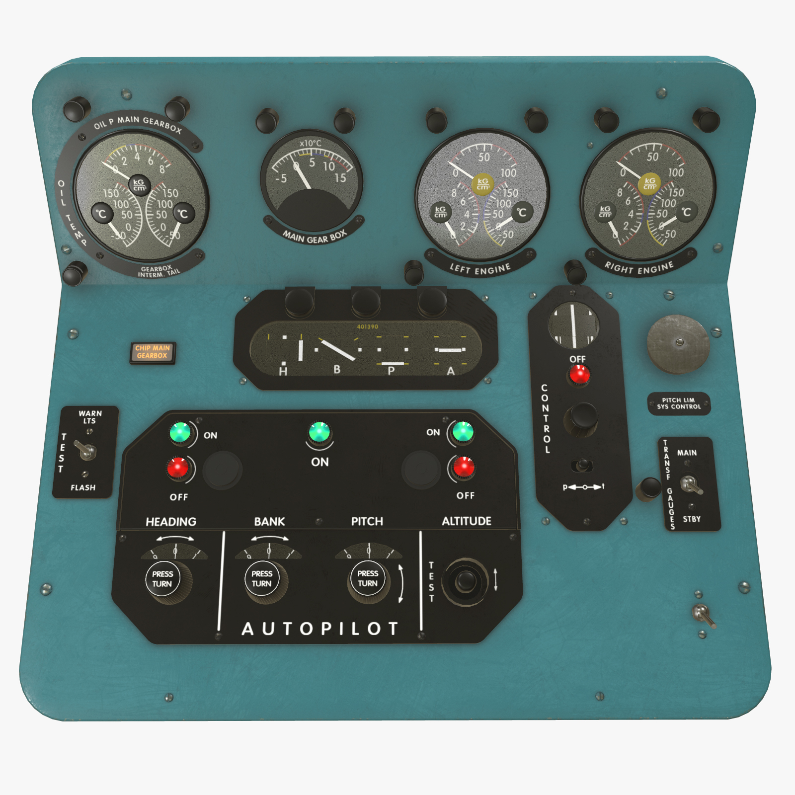 Mi-8MT Mi-17MT Central Panels Board English - Extended License by pukamakara